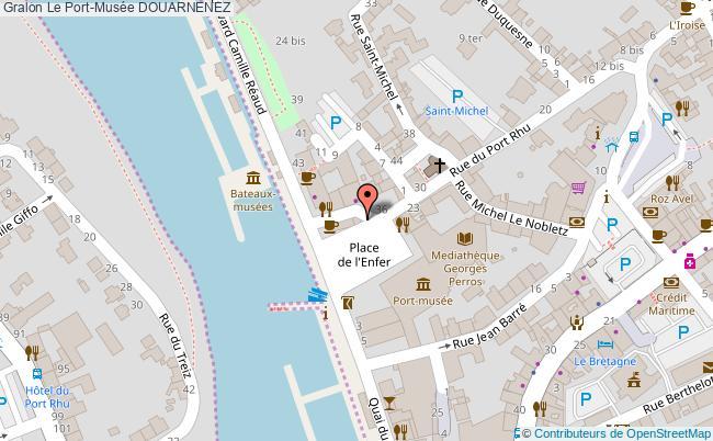 plan Le Port-musée Douarnenez