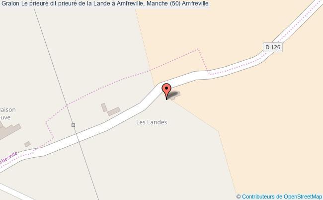 plan Le Prieuré Dit Prieuré De La Lande à Amfreville, Manche (50) Amfreville