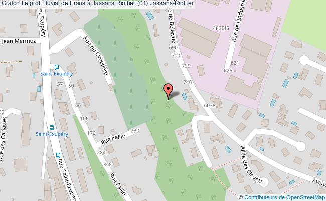 plan Le Prot Fluvial De Frans à Jassans Riottier (01) Jassans-riottier