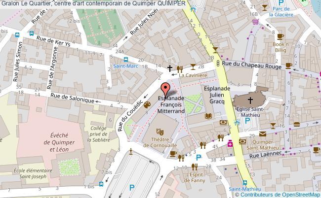 plan Le Quartier, Centre D'art Contemporain De Quimper Quimper