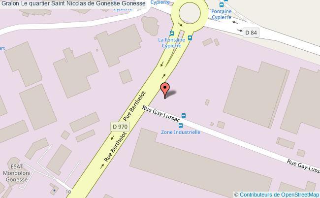 plan association Le Quartier Saint Nicolas De Gonesse Gonesse Gonesse