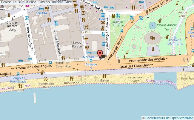 plan Le Ruhl à Nice, Casino Barrière Nice
