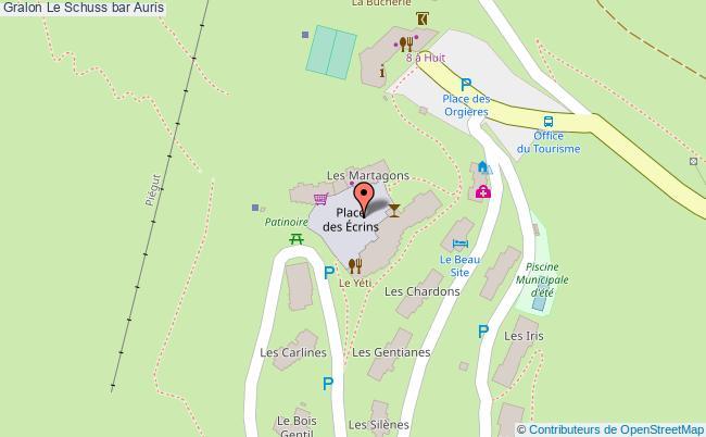 plan Le Schuss Bar Auris
