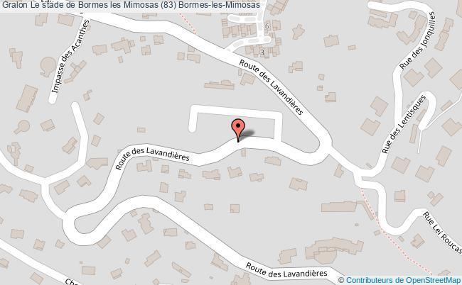 plan Le Stade De Bormes Les Mimosas (83) Bormes-les-mimosas