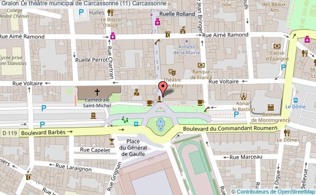 plan Le Théâtre Municipal De Carcassonne (11) Carcassonne