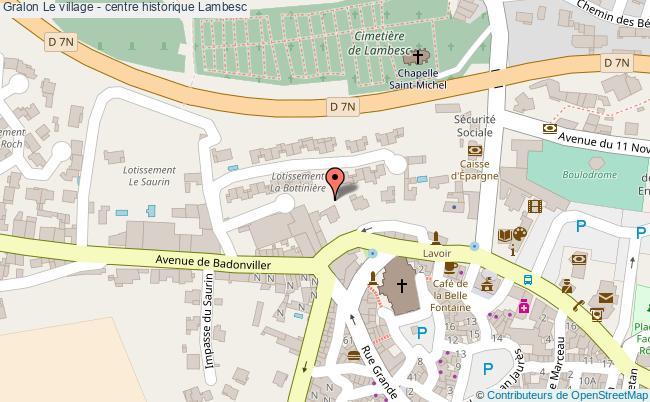plan Le Village - Centre Historique Lambesc
