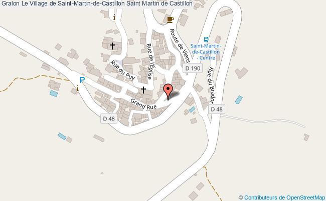 plan Le Village De Saint-martin-de-castillon Saint Martin De Castillon