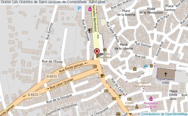 plan Les Chemins De Saint-jacques-de-compostelle  Saint-gilles