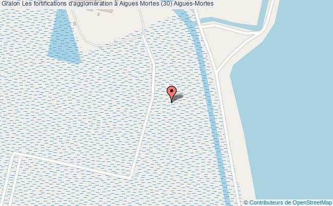 plan Les Fortifications D'agglomération à Aigues Mortes (30) Aigues-mortes