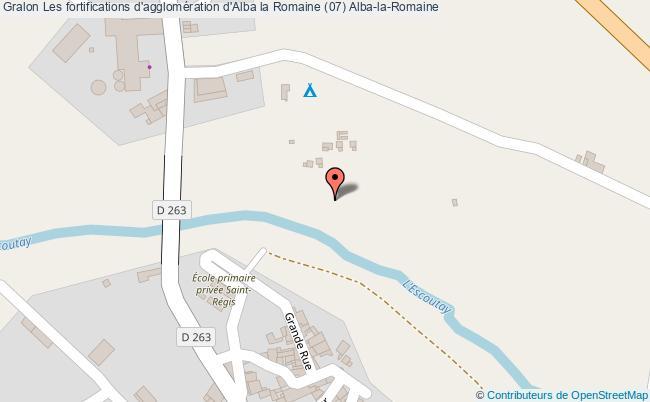 plan Les Fortifications D'agglomération D'alba La Romaine (07) Alba-la-romaine