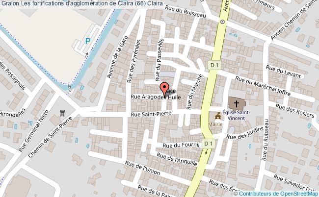 plan Les Fortifications D'agglomération De Claira (66) Claira