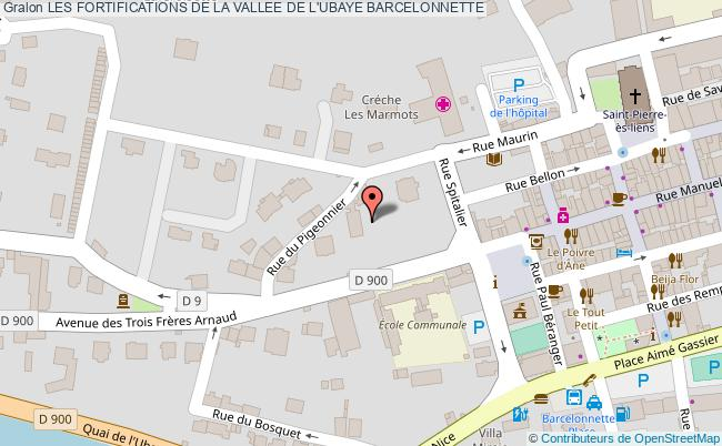 plan Les Fortifications De La Vallee De L'ubaye Barcelonnette
