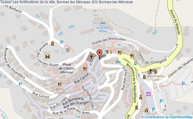 plan Les Fortifications De La Ville, Bormes Les Mimosas (83) Bormes-les-mimosas