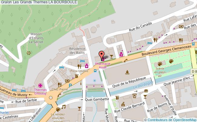 plan association Les Grands Thermes La Bourboule LA BOURBOULE