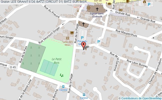 plan Les Granits De Batz (circuit 01) Batz-sur-mer