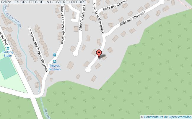 plan Les Grottes De La Louviere Louerre
