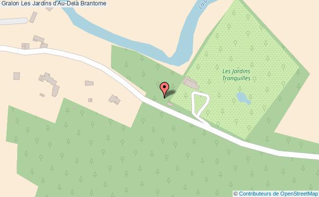 plan association Les Jardins D'au-delà Brantome Brantome