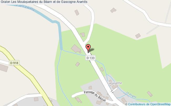 plan Les Mousquetaires Du Béarn Et De Gascogne Aramits