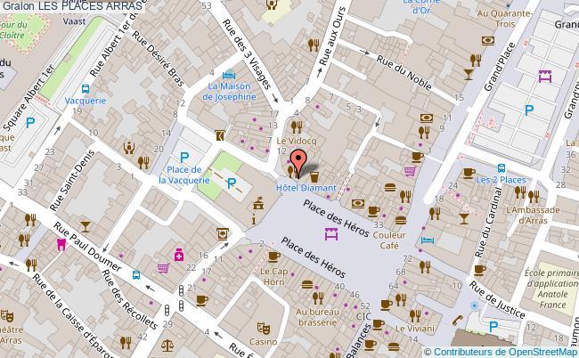 plan association Les Places Arras ARRAS