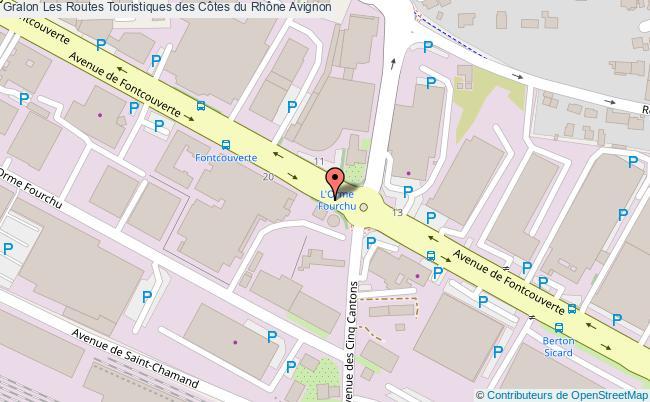 plan association Les Routes Touristiques Des Côtes Du Rhône Avignon Avignon
