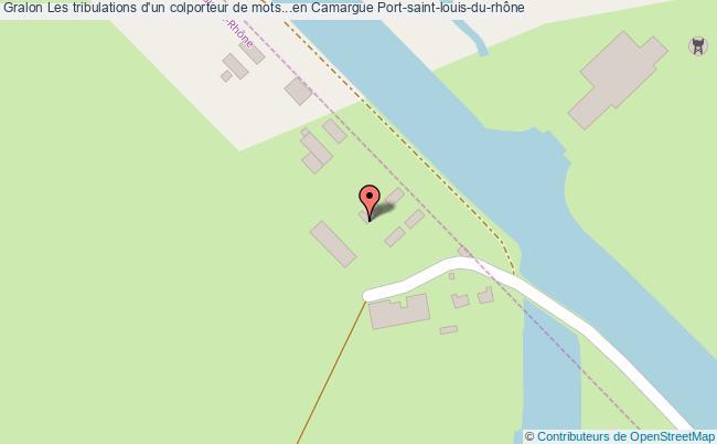 plan Les Tribulations D'un Colporteur De Mots...en Camargue Port-saint-louis-du-rhône