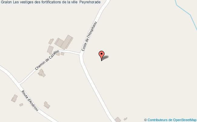 plan association Les Vestiges Des Fortifications De La Ville  Peyrehorade Peyrehorade