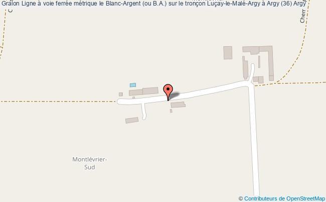 plan Ligne à Voie Ferrée Métrique Le Blanc-argent (ou B.a.) Sur Le Tronçon Luçay-le-malé-argy à Argy (36) Argy