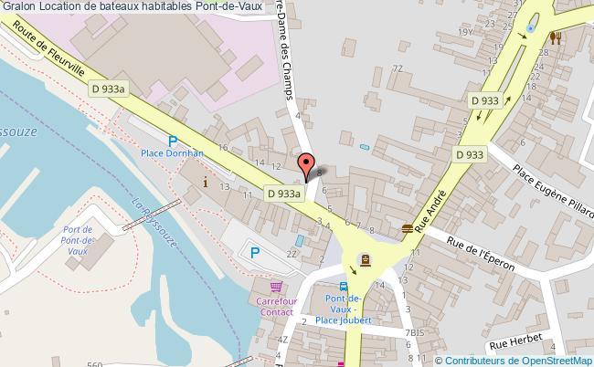 plan Location De Bateaux Habitables Pont-de-vaux