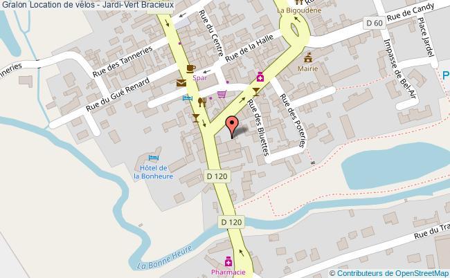 plan Location De Vélos - Jardi-vert Bracieux
