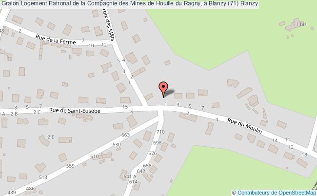 plan association Logement Patronal De La Compagnie Des Mines De Houille Du Ragny, à Blanzy (71) Blanzy Blanzy