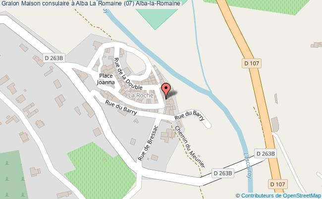 plan Maison Consulaire à Alba La Romaine (07) Alba-la-romaine