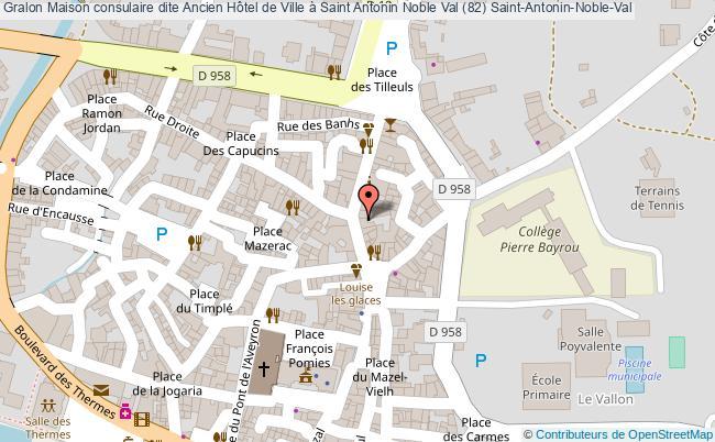plan Maison Consulaire Dite Ancien Hôtel De Ville à Saint Antonin Noble Val (82) Saint-antonin-noble-val