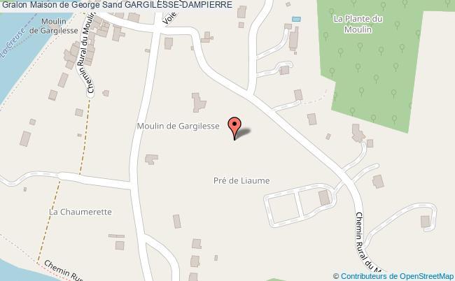plan Maison De George Sand Gargilesse-dampierre