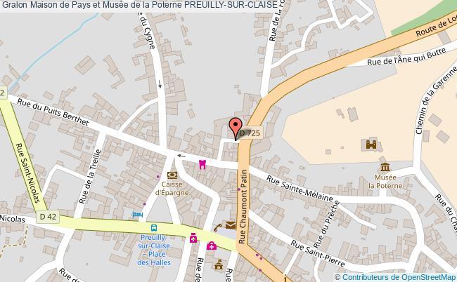 plan Maison De Pays Et Musée De La Poterne Preuilly-sur-claise