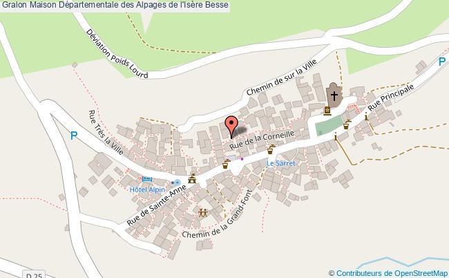 plan Maison Départementale Des Alpages De L'isère Besse