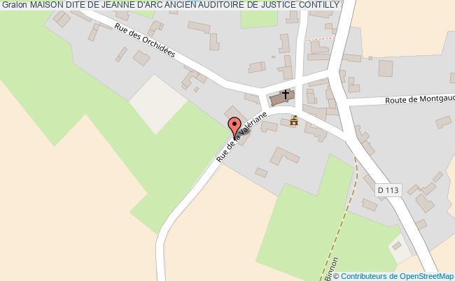 plan Maison Dite De Jeanne D'arc Ancien Auditoire De Justice Contilly