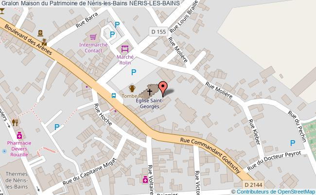 plan Maison Du Patrimoine De Néris-les-bains NÉris-les-bains