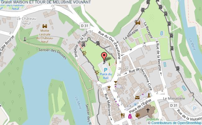 plan association Maison Et Tour De Melusine Vouvant VOUVANT
