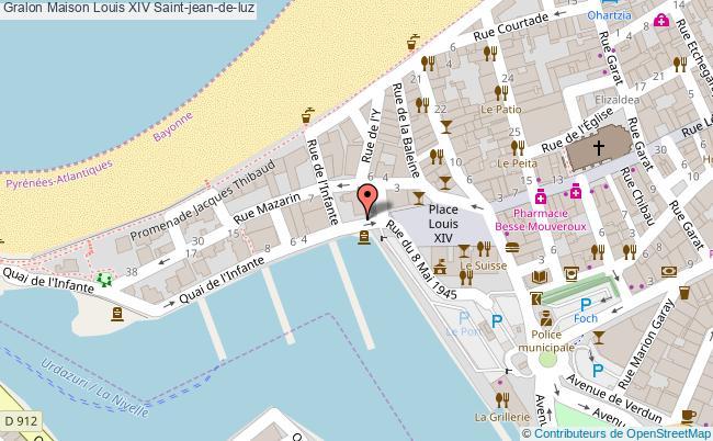 plan association Maison Louis Xiv Saint-jean-de-luz Saint-jean-de-luz