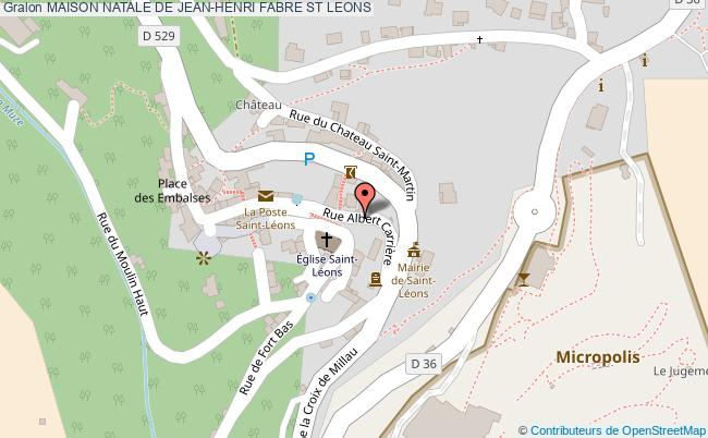 plan Maison Natale De Jean-henri Fabre St Leons