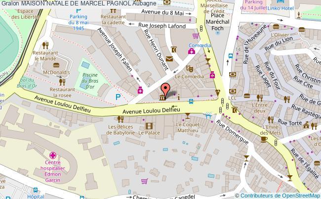 plan association Maison Natale De Marcel Pagnol Aubagne Aubagne