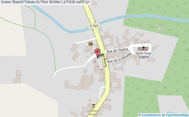 plan association Maison Natale Du Père Brottier La Ferté-saint-cyr La Ferté-saint-cyr