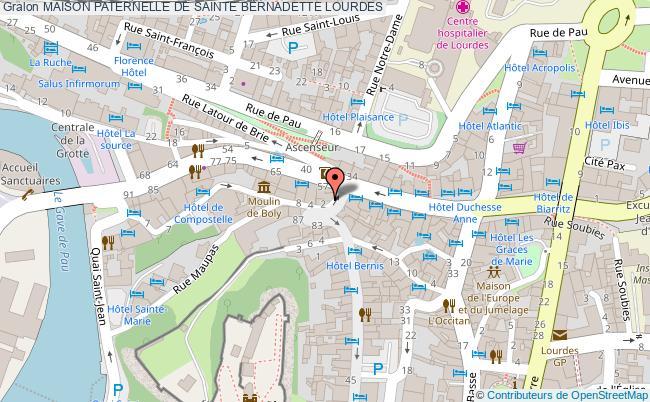 plan Maison Paternelle De Sainte Bernadette Lourdes