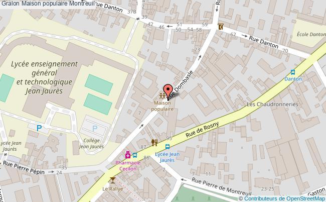 plan association Maison Populaire Montreuil Montreuil