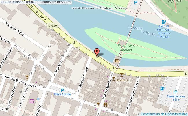 plan association Maison Rimbaud Charleville-mézières Charleville-mézières