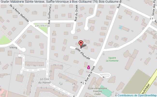 plan association Maladrerie Sainte-venisse, Sainte-véronique à Bois-guillaume (76) Bois-guillaume Bois-Guillaume