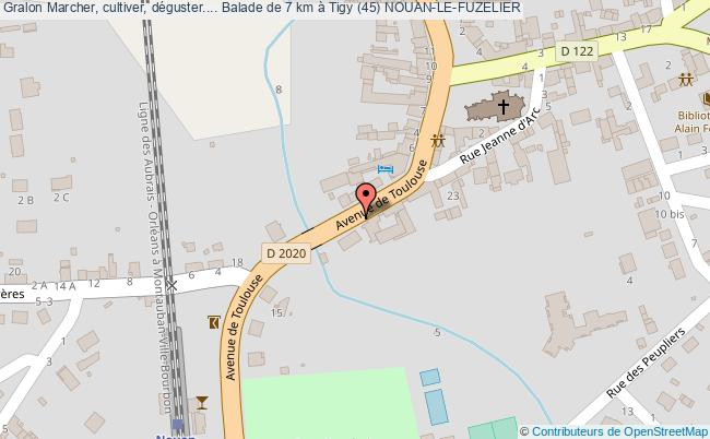 plan Marcher, Cultiver, Déguster.... Balade De 7 Km à Tigy (45) Nouan-le-fuzelier