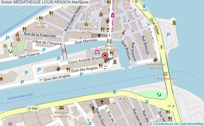 plan MÉdiathÈque Louis Aragon Martigues
