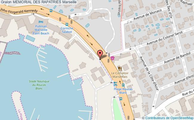 plan MÉmorial Des RapatriÉs Marseille