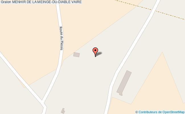plan Menhir De La Meinge-du-diable Vaire